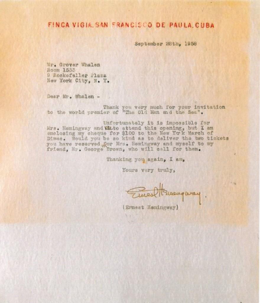 Hemingwayn kirje