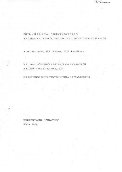 Oppia rehun tekemiseen haettiin myös Balttiasta
