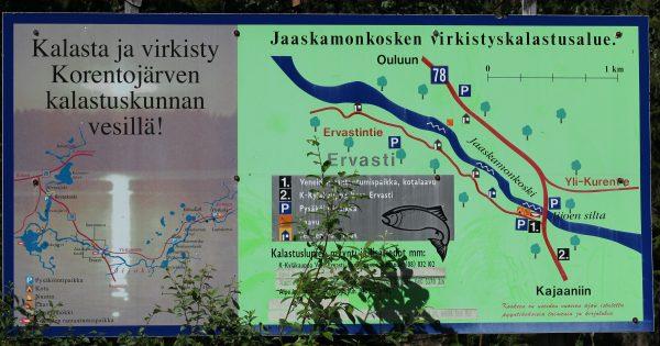 Jaaskamonkoski on suosittu kalastuskohde. Kuva: Ari Savikko
